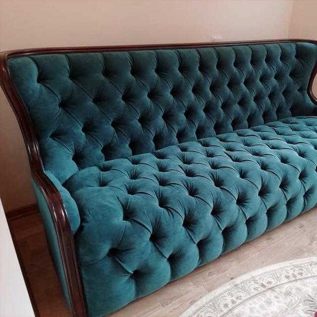 Перетяжка, ремонт и изготовление диванов